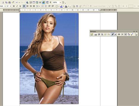 Crop-ping Gambar pada Microsoft Word