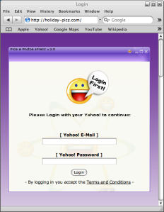 Yahoo Messenger YM pishing